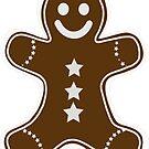 Gingerbread Man C by Kat Sanders
