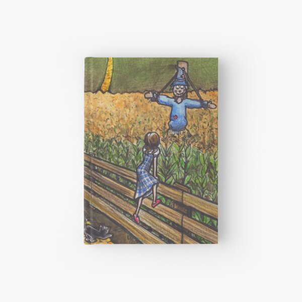Dorothy Meets the Scarecrow Hardcover Journal