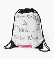 rainbow rowell Drawstring Bag