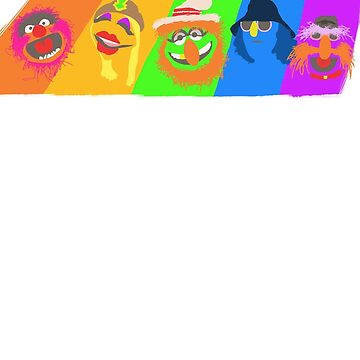 Dr Teeth and the Electric Mayhem Rainbow (The Muppets) by guiltycubicle
