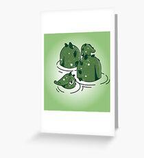 Green Monster Greeting Card