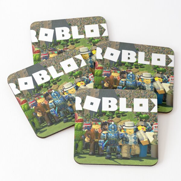 ROBLOX GIFT ITEMS - Tshirt - Phone Case - Pillows - Mugs & Much More.. Coasters (Set of 4)