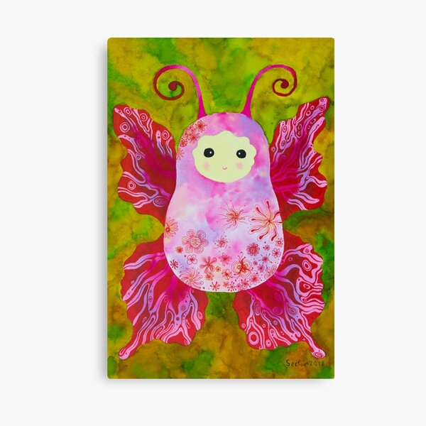 Pink Baby cocoon #4 Chrysalis Protect childhood Painting  Canvas Print