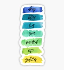 dancing with our hands tied lyrics Sticker