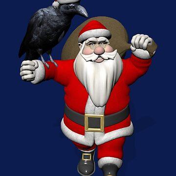 Santa Claus Loves Ravens by Mythos57