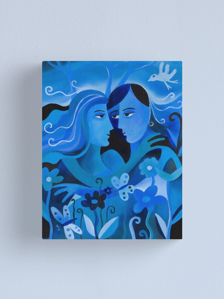 Alternate view of LOVERS IN BLUE Canvas Print