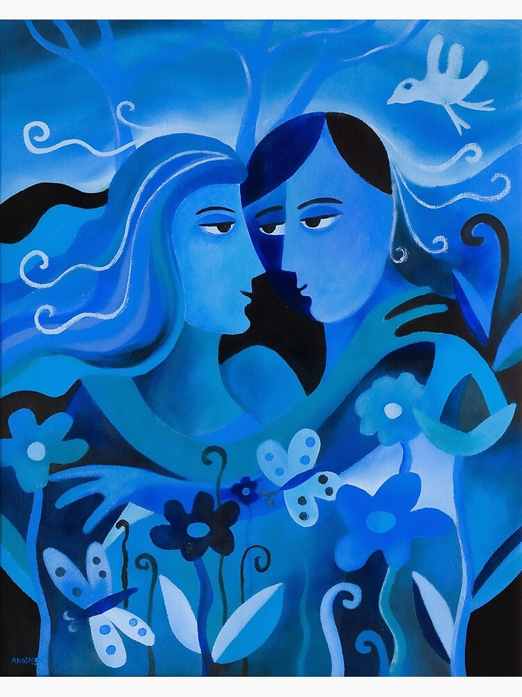 LOVERS IN BLUE by arttas