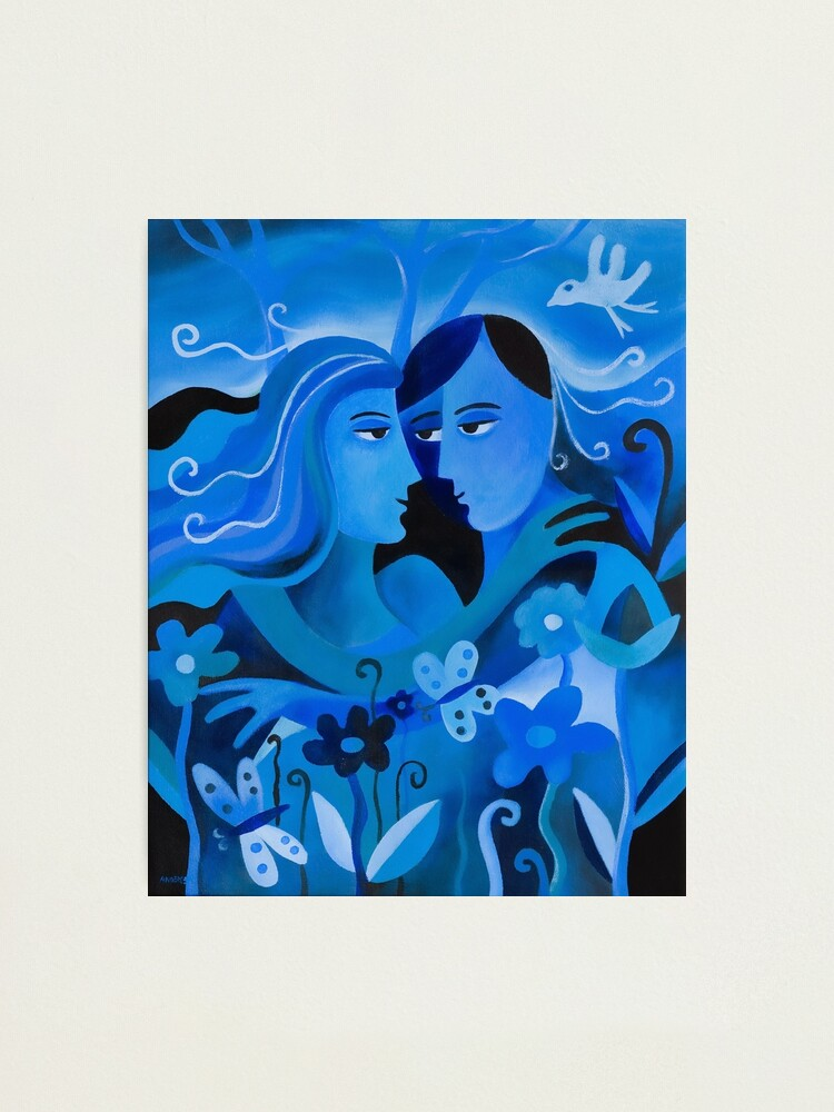 Alternate view of LOVERS IN BLUE Photographic Print