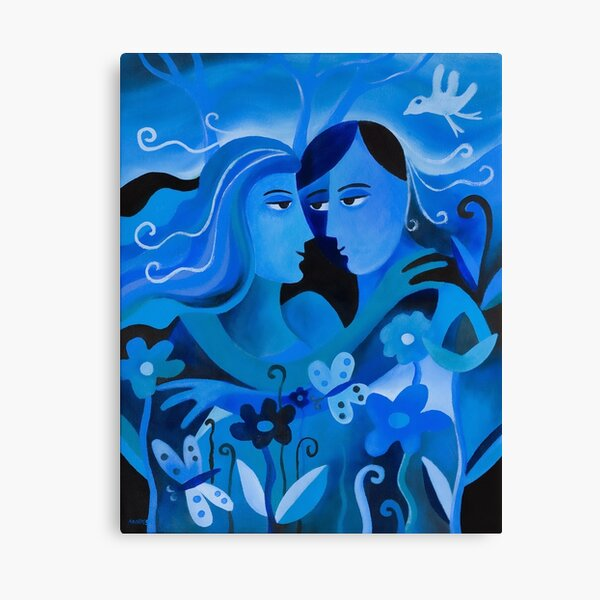 LOVERS IN BLUE Canvas Print