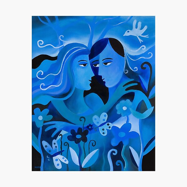 LOVERS IN BLUE Photographic Print
