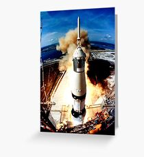 Rocket to the moon Greeting Card