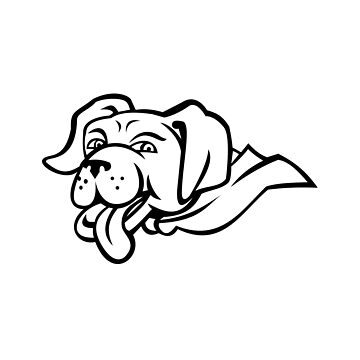 Labrador Retriever Dog Wearing Cape Mascot by patrimonio