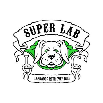 Super Labrador Retriever Dog Wearing Green Cape  by patrimonio