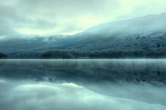 Mist on Coniston Water by Jamie  Green