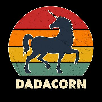 Dadacorn Vintage Unicorn Dad Awesome Fathers Day  by JapaneseInkArt