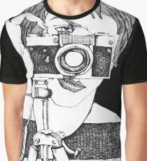 man with vintage ZENIT camera Graphic T-Shirt