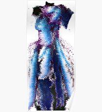 woman model purple Poster