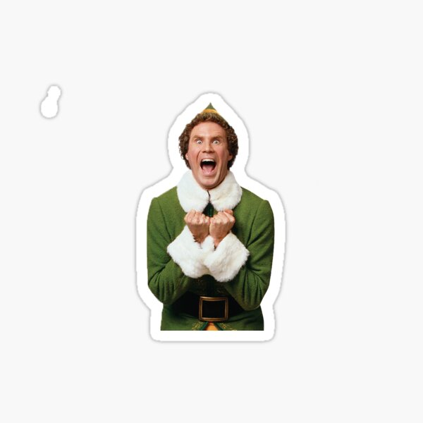Excited Buddy the Elf Christmas  Sticker