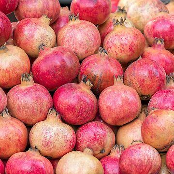 ripe red pomegranate by spetenfia
