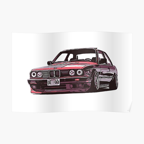 BMW 325i e30 CLASSIC CAR  ART WALL LARGE IMAGE GIANT POSTER