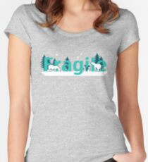 Fragile - polar bears arctic scene Women's Fitted Scoop T-Shirt