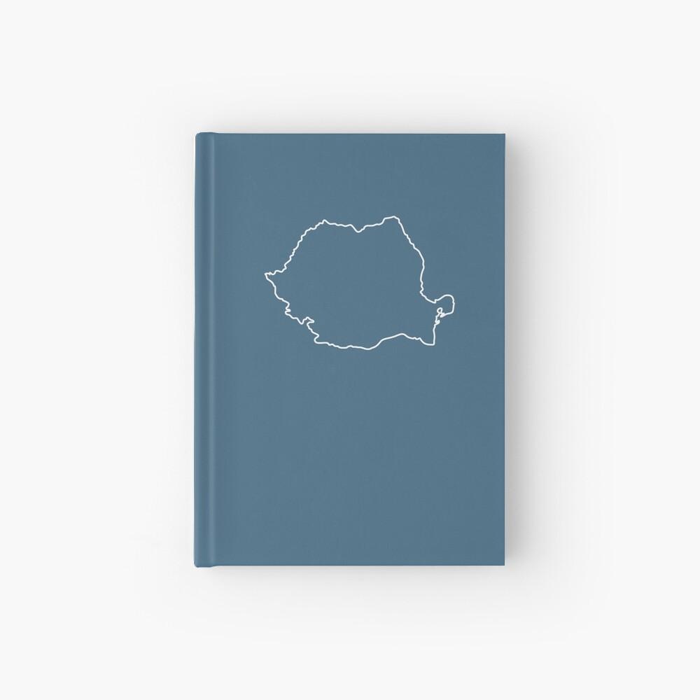 Romania map contour Hardcover Journal