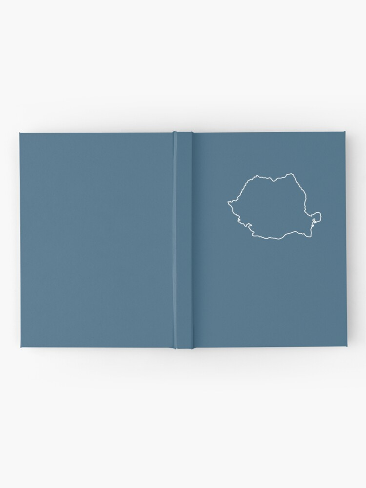Alternate view of Romania map contour Hardcover Journal