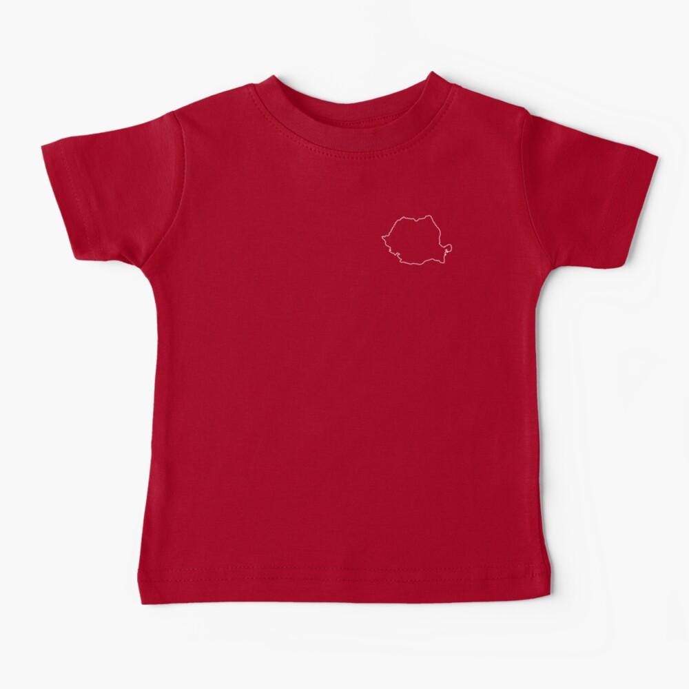 Romania map contour Baby T-Shirt