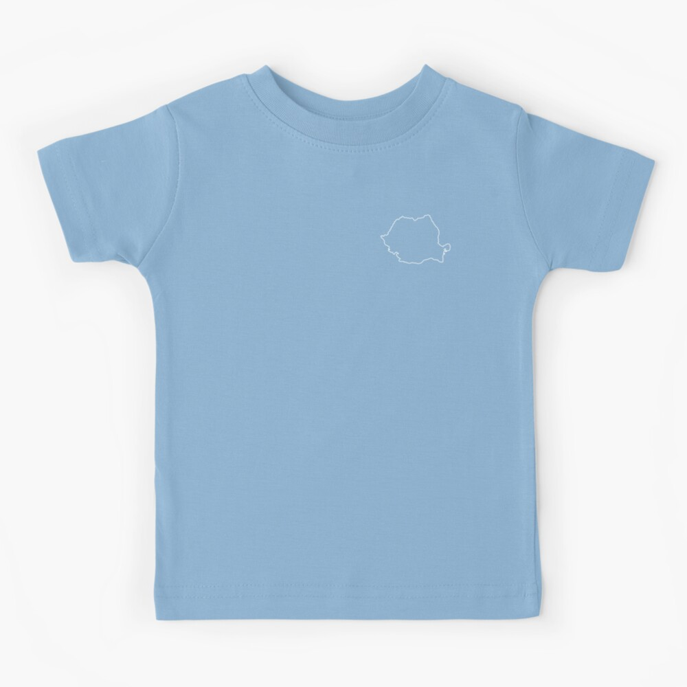 Romania map contour Kids T-Shirt