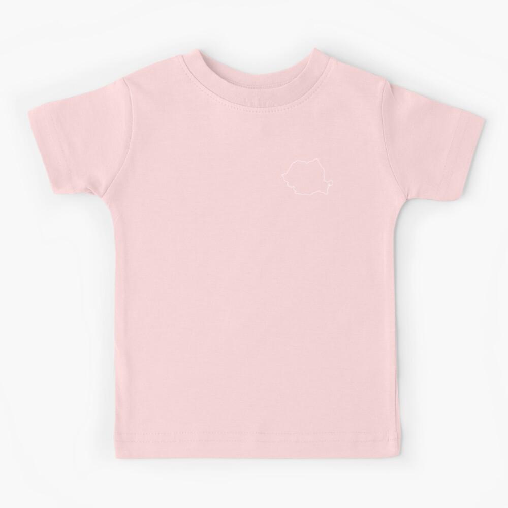 Romania map contour Kids T-Shirt