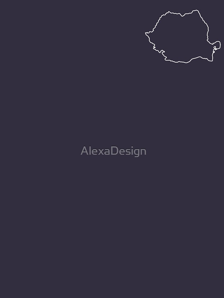 Romania map contour by AlexaDesign