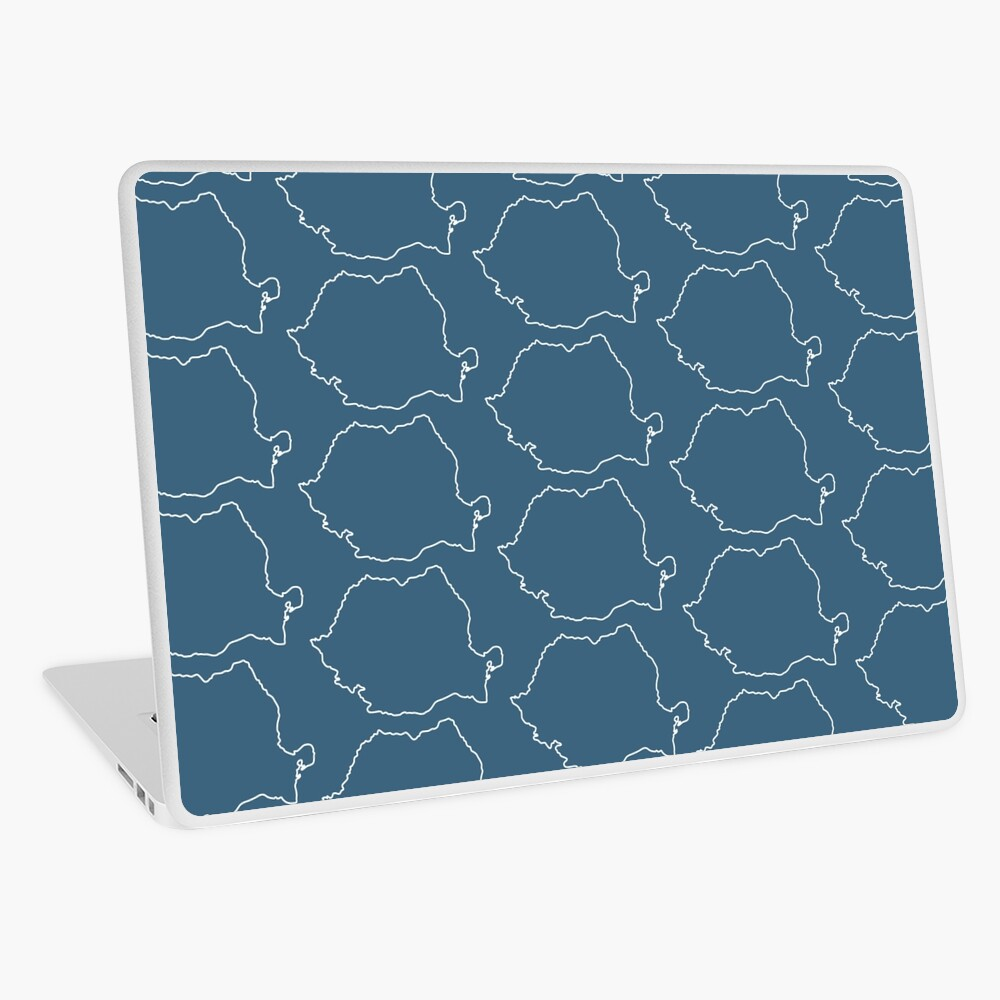 Romania map contour Laptop Skin