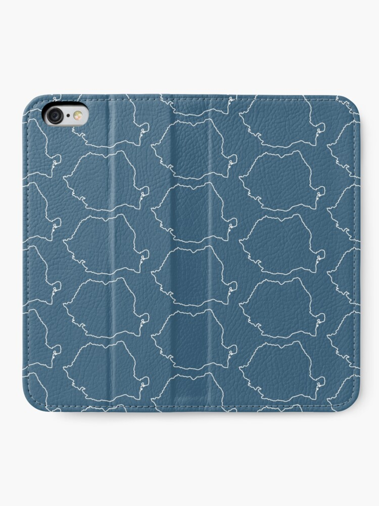 Alternate view of Romania map contour iPhone Wallet