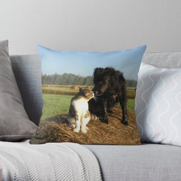 Best Buddies Dog and Cat Throw Pillow
