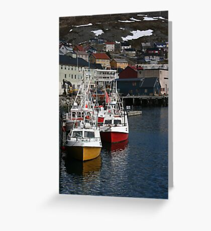 Honningsvåg Harbour Greeting Card