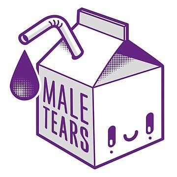 Male Tears Kawaii Tetra-brick by charlizeart