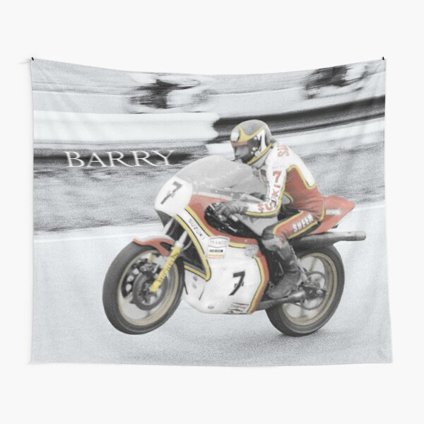 Barry Sheene 2, The hand tinted Version Tapestry