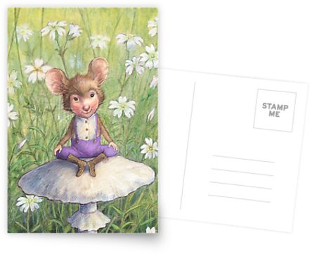 Mosely - cute little mouse-pixie by Petra Brown