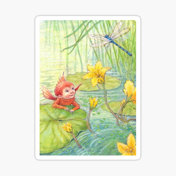 Nixie - cute water-pixie Sticker