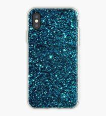 midnight blue sparkle iPhone Case