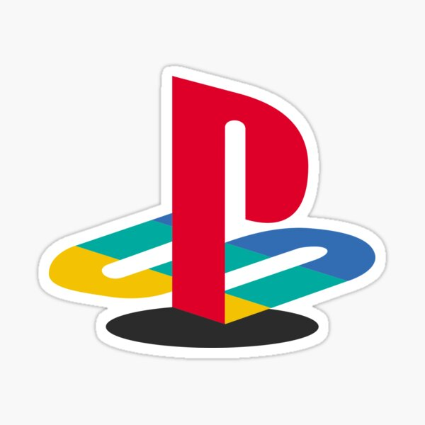 Playstation Coloured Logo Sticker