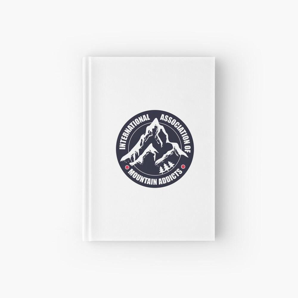 International Association of Mountain addicts badge Hardcover Journal