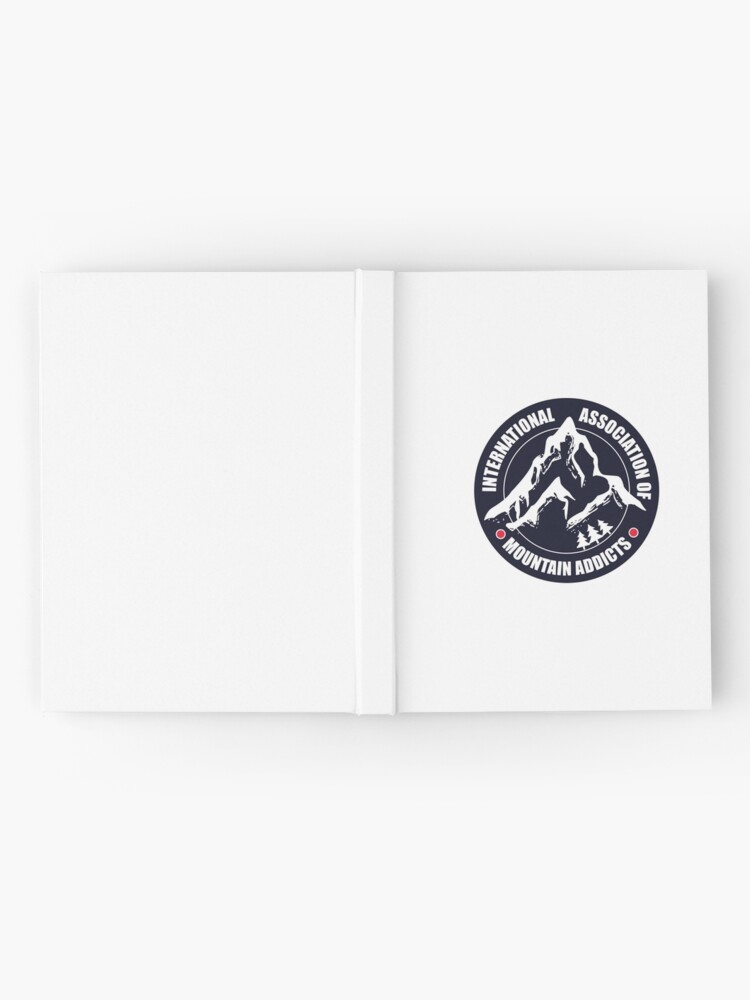 Alternate view of International Association of Mountain addicts badge Hardcover Journal