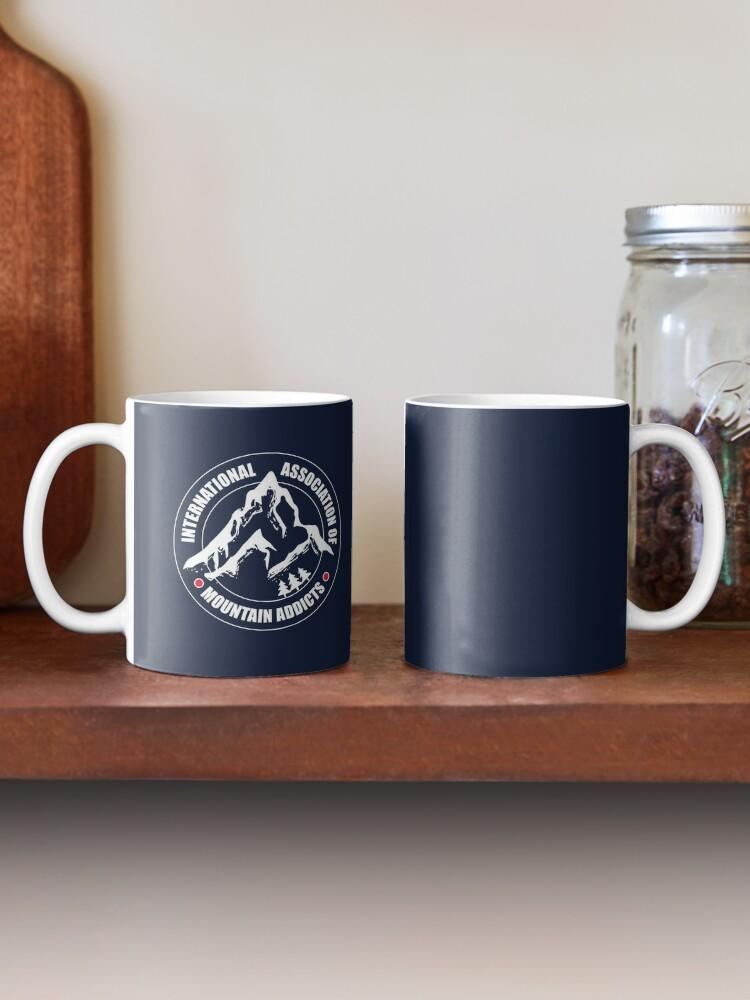 Alternate view of International Association of Mountain addicts badge Mug