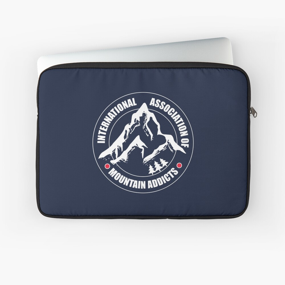International Association of Mountain addicts badge Laptop Sleeve