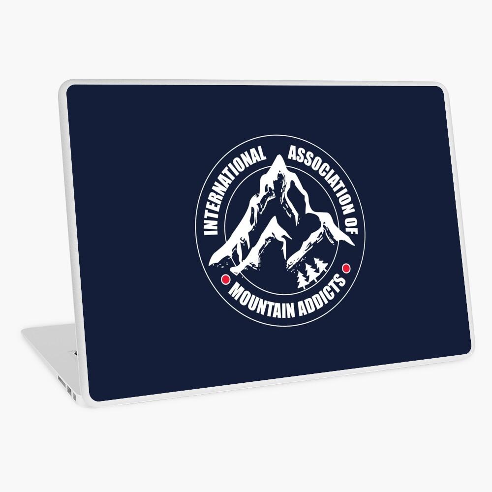 International Association of Mountain addicts badge Laptop Skin