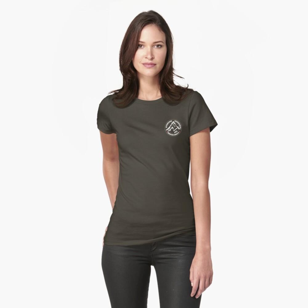 International Association of Mountain addicts badge Womens T-Shirt Front