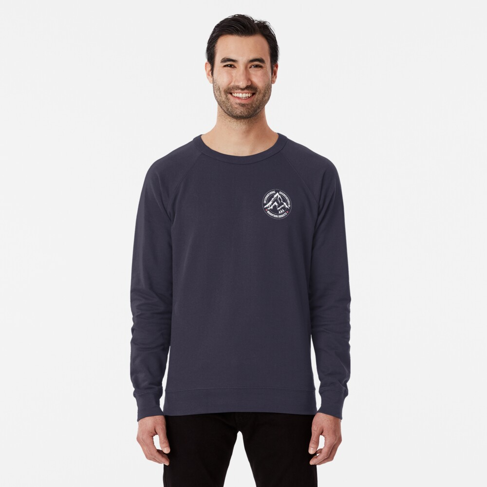 International Association of Mountain addicts badge Lightweight Sweatshirt