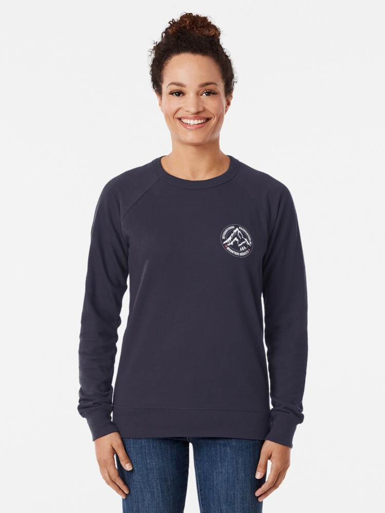 Alternate view of International Association of Mountain addicts badge Lightweight Sweatshirt