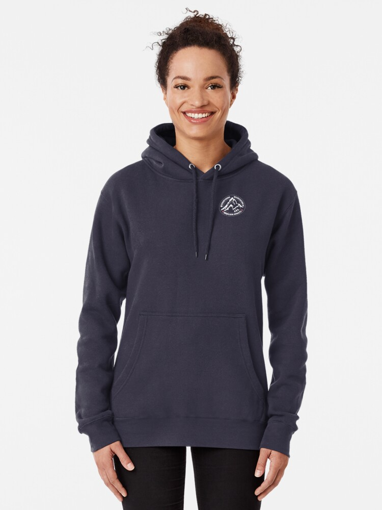 Alternate view of International Association of Mountain addicts badge Pullover Hoodie